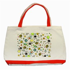 Space Pattern Classic Tote Bag (red) by Valentinaart