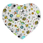 Space Pattern Heart Ornament (Two Sides) Back