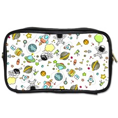 Space Pattern Toiletries Bags 2 Side by Valentinaart