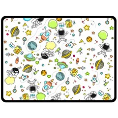 Space Pattern Double Sided Fleece Blanket (large)  by Valentinaart