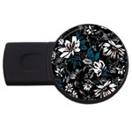Floral pattern USB Flash Drive Round (4 GB) Front