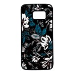 Floral pattern Samsung Galaxy S7 Black Seamless Case Front