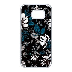 Floral Pattern Samsung Galaxy S7 Edge White Seamless Case