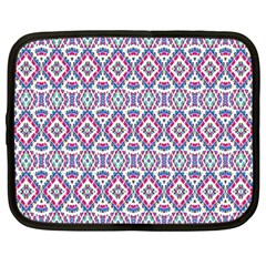 Colorful Folk Pattern Netbook Case (large) by dflcprints