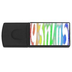 Genius Funny Typography Bright Rainbow Colors Rectangular Usb Flash Drive by yoursparklingshop