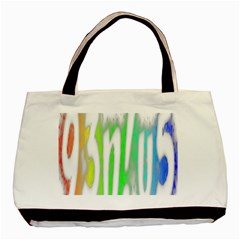 Genius Funny Typography Bright Rainbow Colors Basic Tote Bag by yoursparklingshop