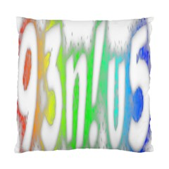 Genius Funny Typography Bright Rainbow Colors Standard Cushion Case (two Sides) by yoursparklingshop