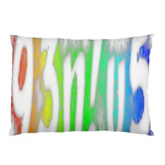 Genius Funny Typography Bright Rainbow Colors Pillow Case by yoursparklingshop
