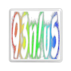 Genius Funny Typography Bright Rainbow Colors Memory Card Reader (square)  by yoursparklingshop