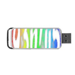 Genius Funny Typography Bright Rainbow Colors Portable Usb Flash (one Side) by yoursparklingshop