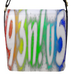 Genius Funny Typography Bright Rainbow Colors Flap Messenger Bag (s) by yoursparklingshop
