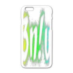 Genius Funny Typography Bright Rainbow Colors Apple Iphone 6/6s White Enamel Case by yoursparklingshop
