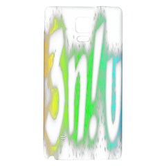 Genius Funny Typography Bright Rainbow Colors Galaxy Note 4 Back Case by yoursparklingshop
