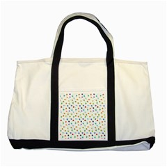 Dotted Pattern Background Brown Two Tone Tote Bag by Modern2018