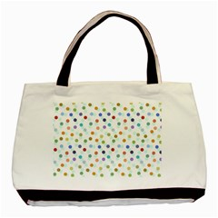 Dotted Pattern Background Brown Basic Tote Bag (two Sides) by Modern2018