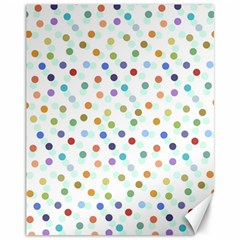 Dotted Pattern Background Brown Canvas 11  X 14   by Modern2018