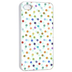 Dotted Pattern Background Brown Apple Iphone 4/4s Seamless Case (white)