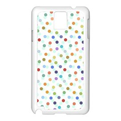 Dotted Pattern Background Brown Samsung Galaxy Note 3 N9005 Case (white) by Modern2018