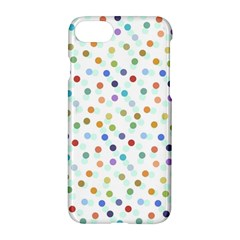 Dotted Pattern Background Brown Apple Iphone 8 Hardshell Case