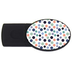 Dotted Pattern Background Blue Usb Flash Drive Oval (2 Gb) by Modern2018