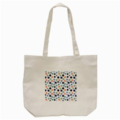 Dotted Pattern Background Blue Tote Bag (cream) by Modern2018