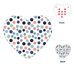 Dotted Pattern Background Blue Playing Cards (heart)  by Modern2018
