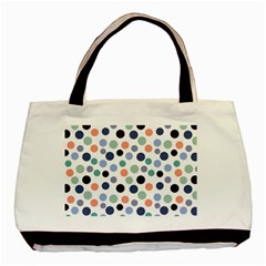 Dotted Pattern Background Blue Basic Tote Bag by Modern2018