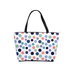 Dotted Pattern Background Blue Shoulder Handbags by Modern2018