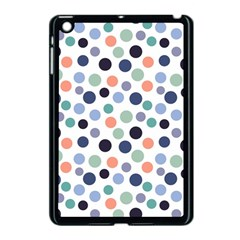 Dotted Pattern Background Blue Apple Ipad Mini Case (black) by Modern2018