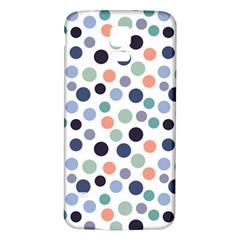 Dotted Pattern Background Blue Samsung Galaxy S5 Back Case (white)