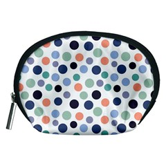 Dotted Pattern Background Blue Accessory Pouches (medium)  by Modern2018