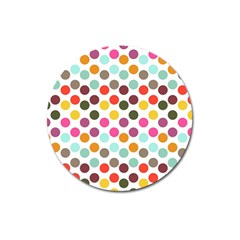 Dotted Pattern Background Magnet 3  (round) by Modern2018
