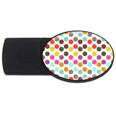 Dotted Pattern Background Usb Flash Drive Oval (2 Gb) by Modern2018