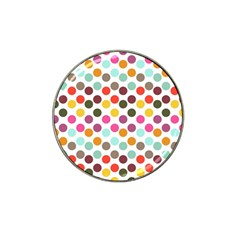 Dotted Pattern Background Hat Clip Ball Marker by Modern2018