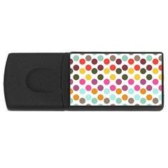 Dotted Pattern Background Rectangular Usb Flash Drive by Modern2018