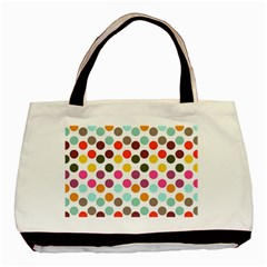 Dotted Pattern Background Basic Tote Bag by Modern2018