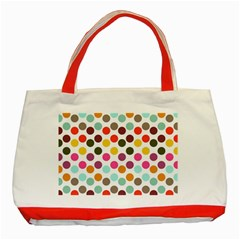 Dotted Pattern Background Classic Tote Bag (red) by Modern2018