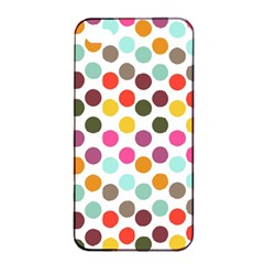 Dotted Pattern Background Apple Iphone 4/4s Seamless Case (black) by Modern2018