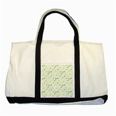 Dotted Pattern Background Full Colour Two Tone Tote Bag by Modern2018