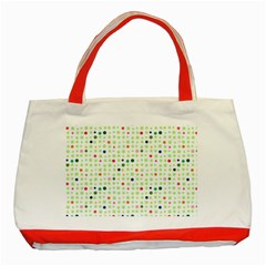 Dotted Pattern Background Full Colour Classic Tote Bag (red) by Modern2018