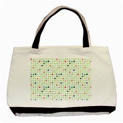 Dotted Pattern Background Full Colour Basic Tote Bag (two Sides) by Modern2018