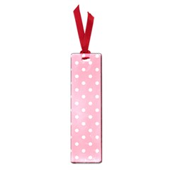 Pink Polka Dot Background Small Book Marks by Modern2018