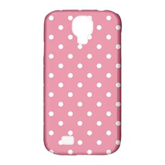 Pink Polka Dot Background Samsung Galaxy S4 Classic Hardshell Case (pc+silicone)