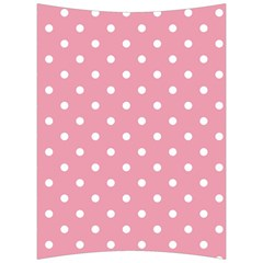 Pink Polka Dot Background Back Support Cushion by Modern2018