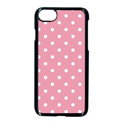 Pink Polka Dot Background Apple Iphone 8 Seamless Case (black) by Modern2018