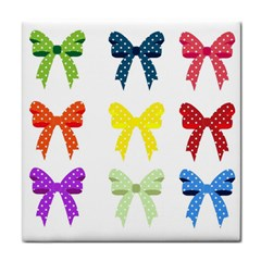 Ribbons And Bows Polka Dots Tile Coasters by Modern2018