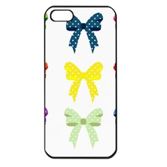 Ribbons And Bows Polka Dots Apple Iphone 5 Seamless Case (black) by Modern2018