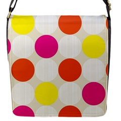 Polka Dots Background Colorful Flap Messenger Bag (s) by Modern2018