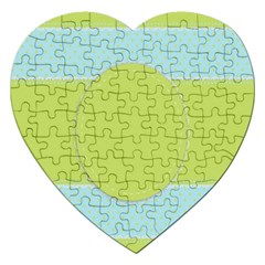 Lace Polka Dots Border Jigsaw Puzzle (heart) by Modern2018