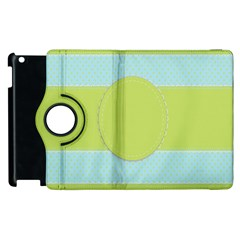 Lace Polka Dots Border Apple Ipad 2 Flip 360 Case by Modern2018